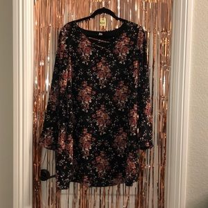 Black dress with print